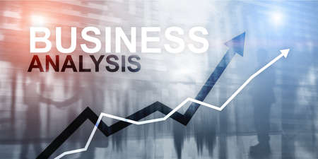 Business analysis concept. Financial abstract futuristic background.