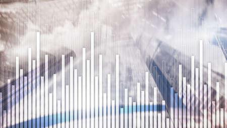Mixed Media Stock Market Corporate background. Concept City Trading Фото со стока