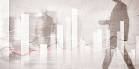 Business team traders investment planning and analyzing graph stock market trading with stock chart data Фото со стока