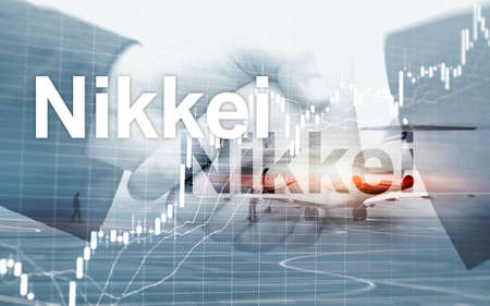 The Nikkei 225 Stock Average Index. Financial Business Economic concept. 写真素材