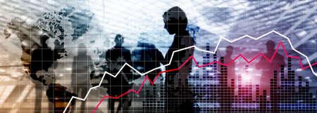 金融危机衰退经济概念。