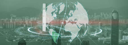 Globe Earth Flight Communication internation business global.