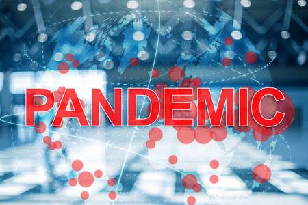 Coronavirus concept. World Pandemic. 3D Globe 2020.