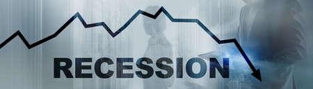 Coronavirus recession concept 2020. Stock market crash. Banco de Imagens