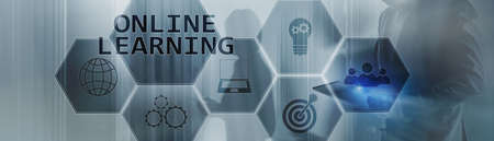Online education concept 2020. Banner For your project.