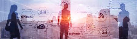 Artificial intelligence Big Data Automation Innovation universal background. Stockfoto