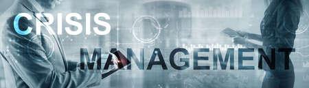 Crisis Management Solution Crisis Identity Planning Concept. Stockfoto