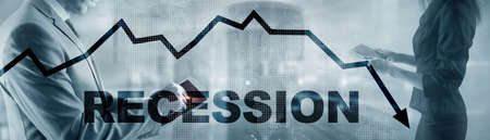 Coronavirus recession concept 2020. Stock market crash. Stockfoto