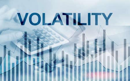 Volatility Financial Markets Concept. Stock and Trading Concept Stockfoto
