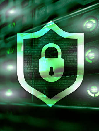 Cyber Security lock Information Privacy Data Protection 2020.