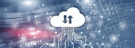 Future Network Cloud Services Business concept. Cloud for your organization. Stok Fotoğraf