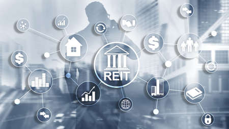 Real estate investment trust REIT. Finacial concept 2020. Stock Photo