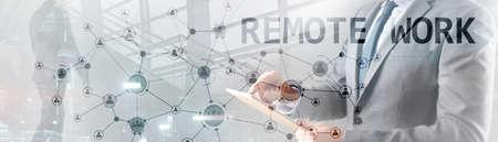 Remote Work concept. Coronavirus. Quarantine 2020 pandemic in the world.