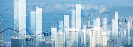 Trading Finance stock market graph chart diagram business forex exchange concept website header.