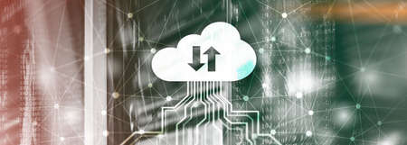 Future Network Cloud Services Business concept. Cloud for your organization. Stock Photo