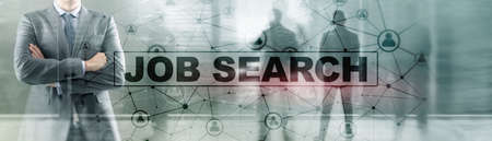 Job search concept. Find your career. Epidemic consequences. Foto de archivo