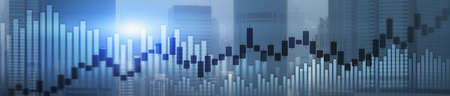 Website header and banner of Hong Kong cityscape with skyscarapers. Trading and stock markets. Standard-Bild - 154850461