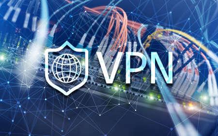 Virtual private network VPN. New technology concept 2020. Standard-Bild - 154850478