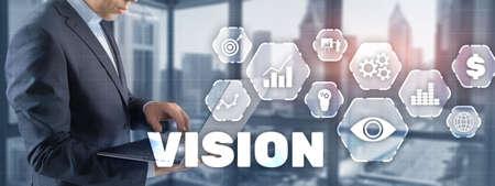 Vision Business Finance Concept on Virtual screen. Standard-Bild - 154850626