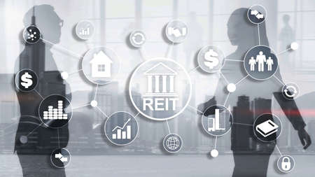 Real estate investment trust REIT. Finacial concept 2020. Standard-Bild - 154850627