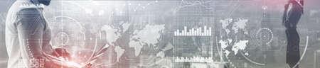 Business Control Panel Mixed Media. Business Intelligence. Standard-Bild
