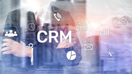 Business Customer CRM Management Analysis Service Concept. Relationship Management. Standard-Bild - 154850632