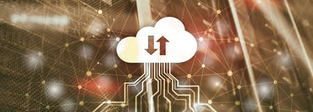 Future Network Cloud Services Business concept. Cloud for your organization. Standard-Bild