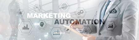 Business Marketing automation concept. Technology Process System Finance on banner. Standard-Bild
