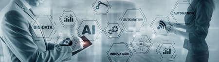 Artificial intelligence Big Data Automation Innovation universal background. Standard-Bild