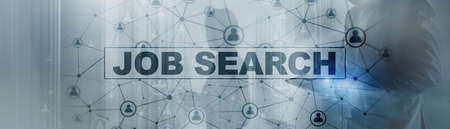 Job search concept. Find your career. Epidemic consequences. Standard-Bild