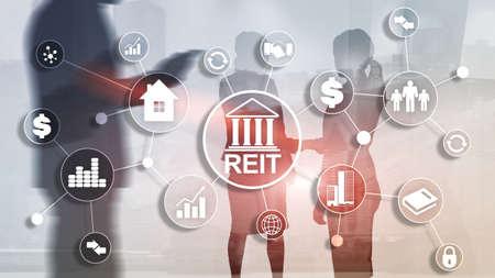 Real estate investment trust REIT. Finacial concept 2020. Standard-Bild