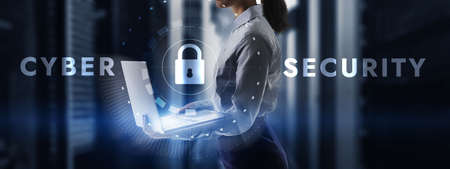 Cyber Security Protection Safe Concept. New Technology Background 2021. Standard-Bild