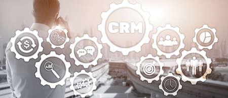 Business Customer CRM Management Analysis Service Concept. Relationship Management. Standard-Bild
