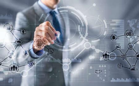 Business intelligence. Financial dashboard with key performance indicators. Standard-Bild