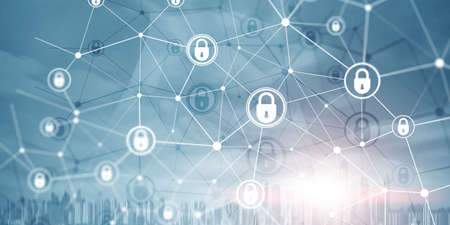 Corporate Data protection. Cyber Security Privacy Business Internet Technology Concept.