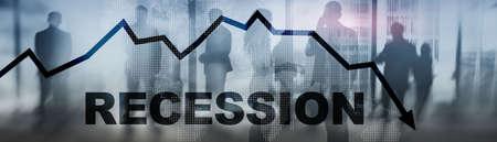 Coronavirus recession concept 2020. Stock market crash. Standard-Bild
