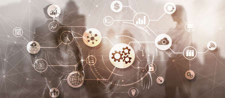 Automation Process 2021. System Business concept. Standard-Bild
