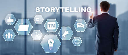 Storytelling. Story Telling Business Technology concept 2021.