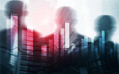 Universal background for a stock market presentation. Standard-Bild