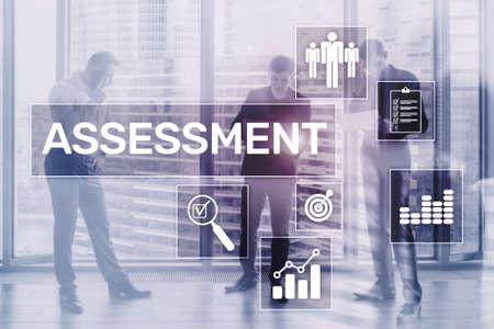 Assessment Analysis Analytics Technology concept on Business Background. Standard-Bild