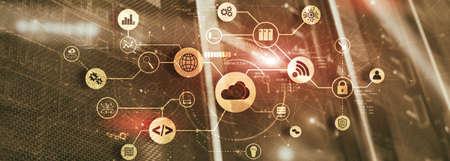 Cloud Computing. Technology Connectivity concept. Mixed Media. Standard-Bild