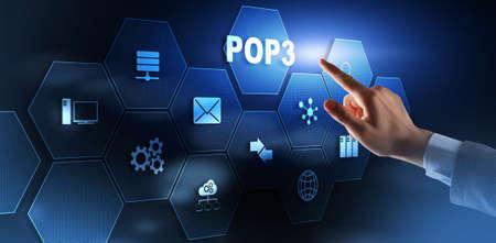 POP3. Post Office Protocol Version 3. Standard internet protocol.