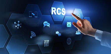 Rich Communication Services. Communication Protocol. RCS. Technology concept.
