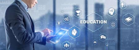 E-learning Education Webinar Online concept. Business Technology.
