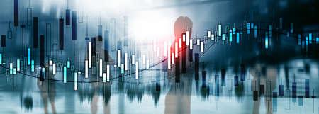 Financial Stock Market Graph. Website Economic Banner.