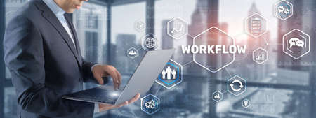 Automation of business workflows. Work process.