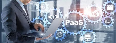 Platform as a service PaaS - cloud computing services concept. 스톡 콘텐츠