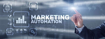 Marketing automation concept. Business Technology Internet and network