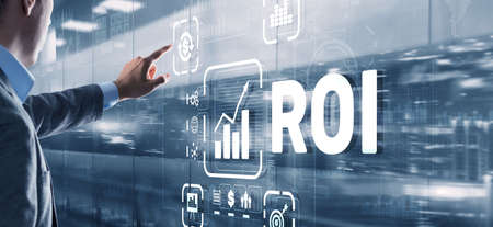Roi Return On Investment Business Technology Analysis Finance Concept