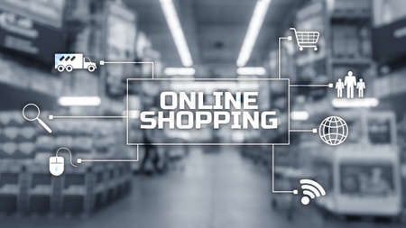 Online Shopping Concept of buying digital online 免版税图像